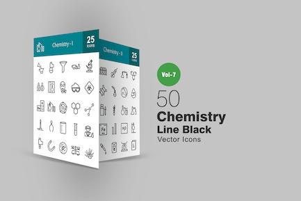 50 Chemistry Line Icons