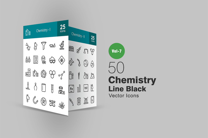 Thumbnail for 50 Chemistry Line Icons