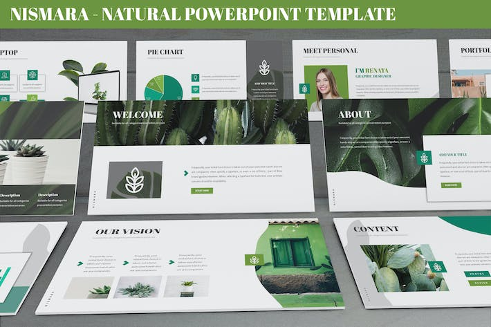 Thumbnail for Nismara - Natural Powerpoint Template