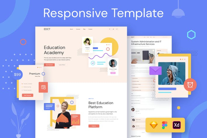 Thumbnail for Education Responsive Template