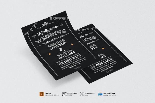 Wedding Invitation Flyer Template Vol. 04