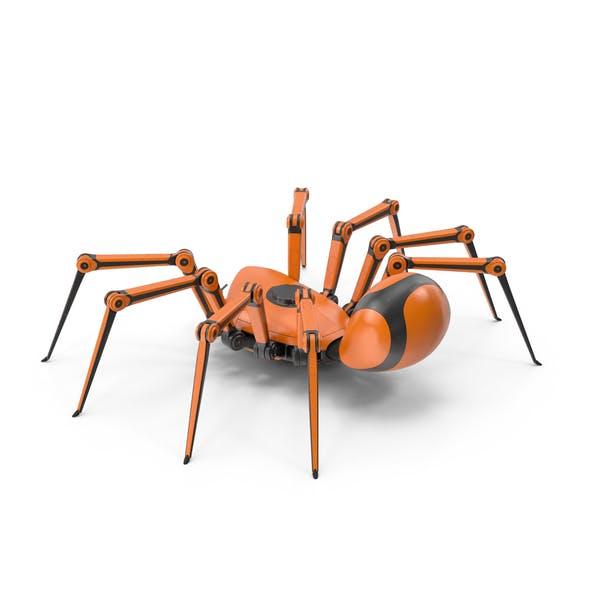 Roboter Spider Orange Schwarz