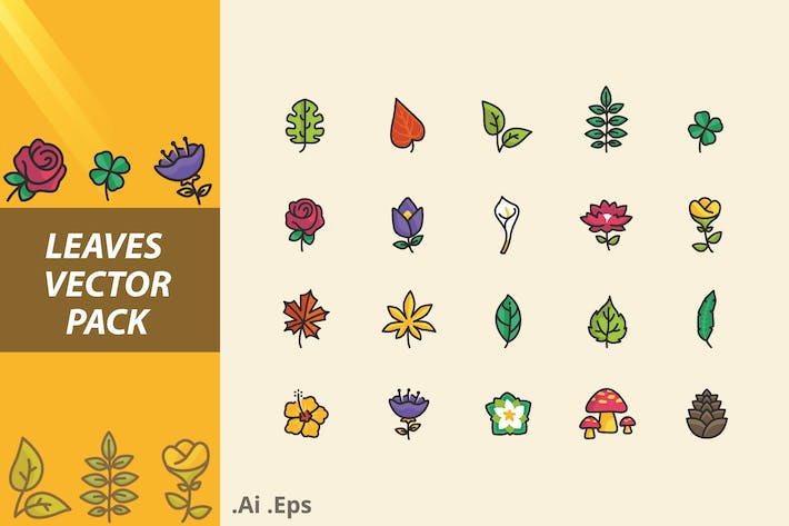 Thumbnail for LEAVES  VECTOR PACK
