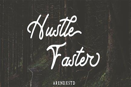 Tipografía Hustle Faster