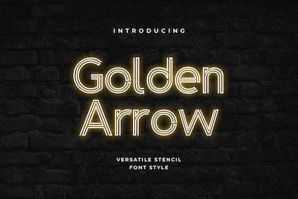 Golden Arrow Classy Modern Geometric Font