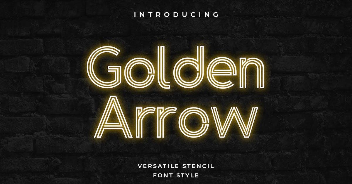Download Golden Arrow Classy Modern Geometric Font by uicreativenet