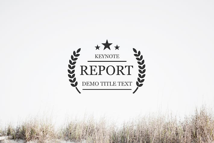 Thumbnail for Report Keynote Template