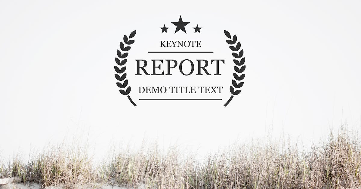 Download Report Keynote Template by Unknow