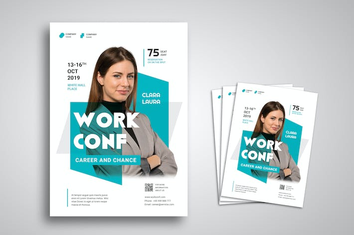 Thumbnail for Workshop and Conference Flyer Promo Template