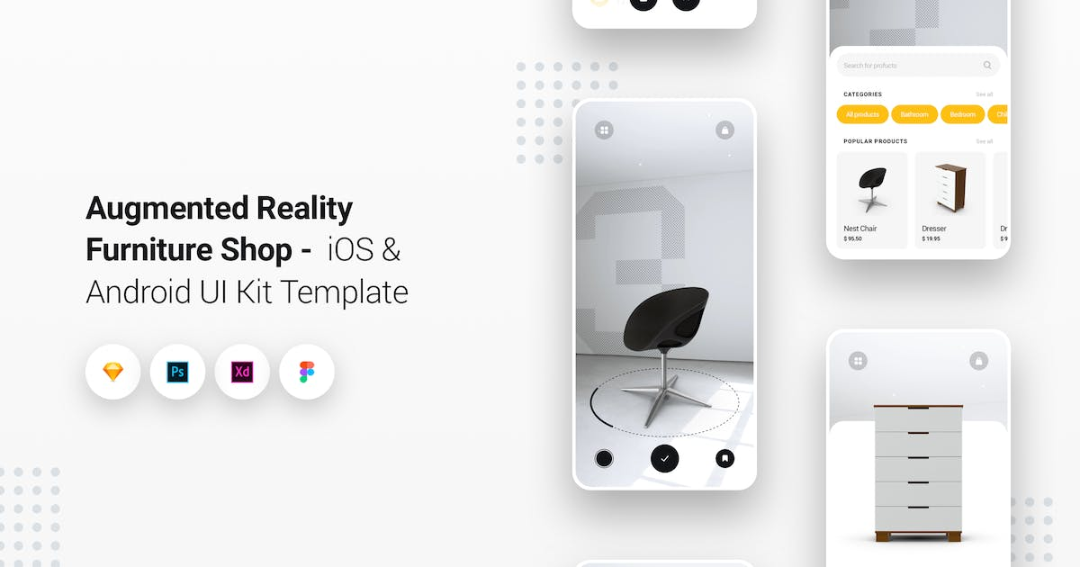 Augmented Reality Furniture Shop iOS & Android App by