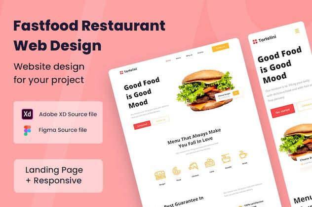 Fast Food Restaurants Web Design
