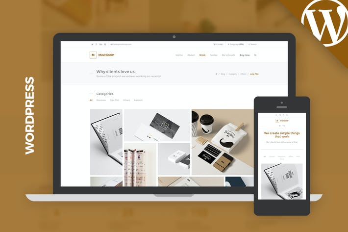 Thumbnail for Multicorp WP - Clean Agency WordPress Theme