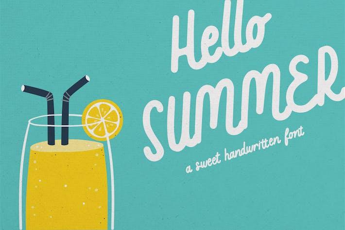 Hello Summer - Une douce police manuscrite