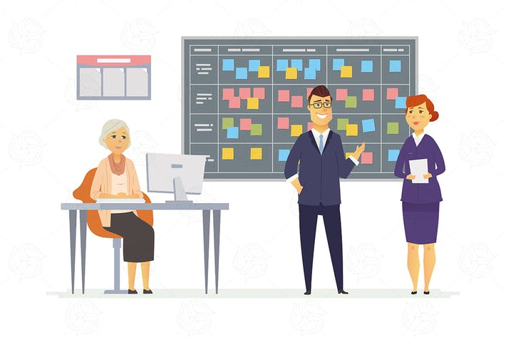 Cover Image For Kanban planning system - vector illustration