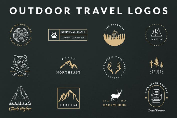 Thumbnail for Vintage Outdoor Travel Logos