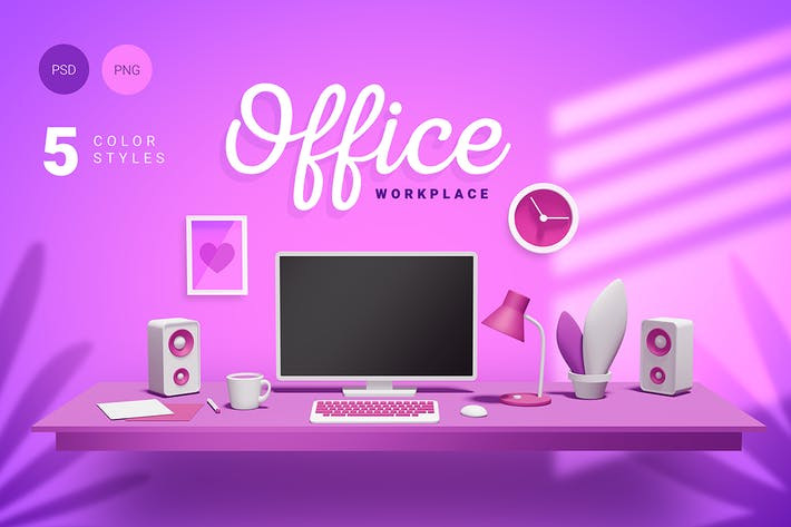 Thumbnail for 3d office workplace