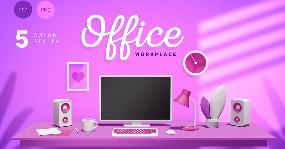 Download 3d office workplace by wowomnom