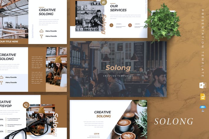 Thumbnail for SOLONG - Coffee Shop Powerpoint/Google Sli/Keynote