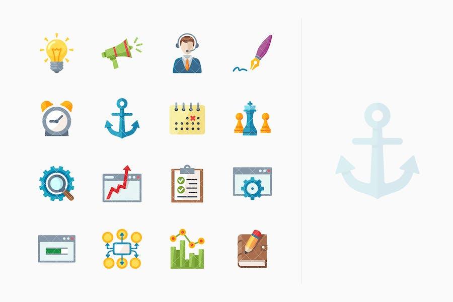 SEO & Internet Marketing Íconos Kit 5 - Serie Plana