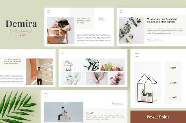 Thumbnail for Демира - Набор приветствия Klient Шаблон Powerpoint
