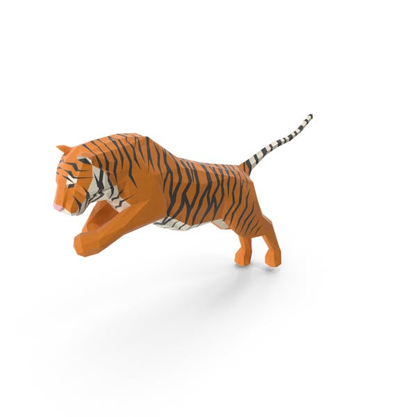 Thumbnail for Low Poly Tiger