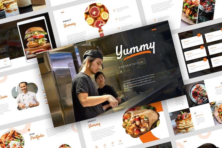 Yummy - Шаблон Keynote продуктов питания