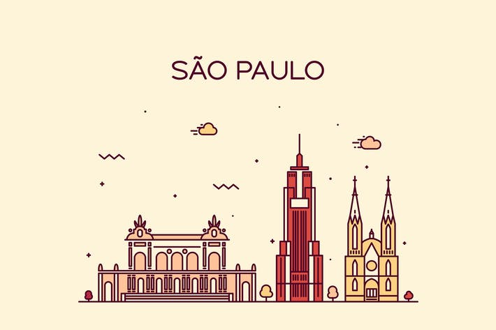 Cover Image For Sao Paulo skyline, Brazil