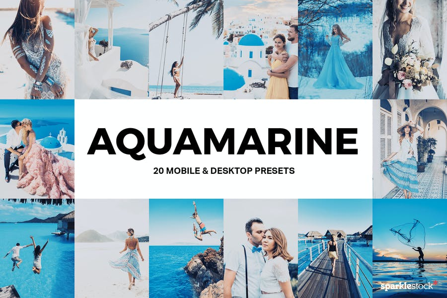 20 Aquamarine Lightroom Presets and LUTs