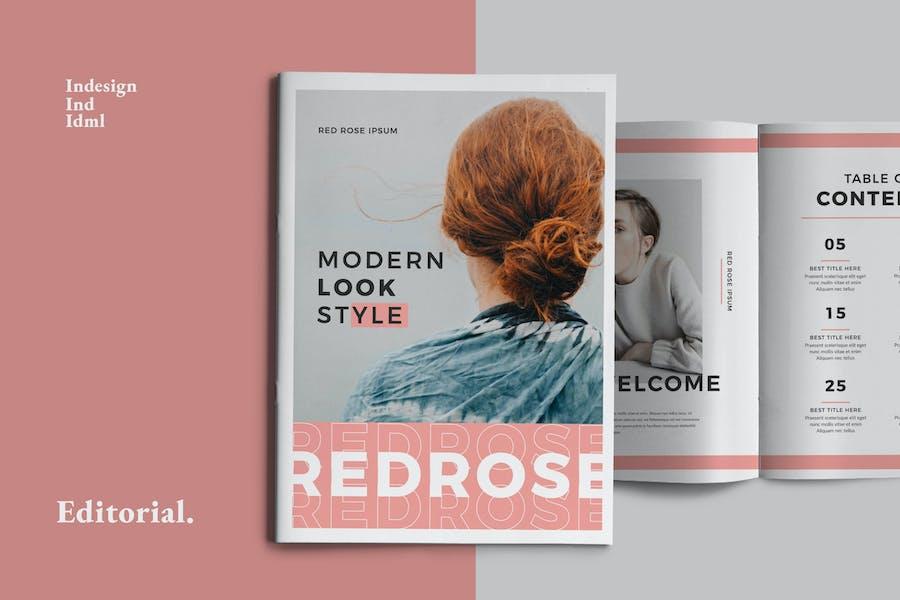Red Pastel Brochure