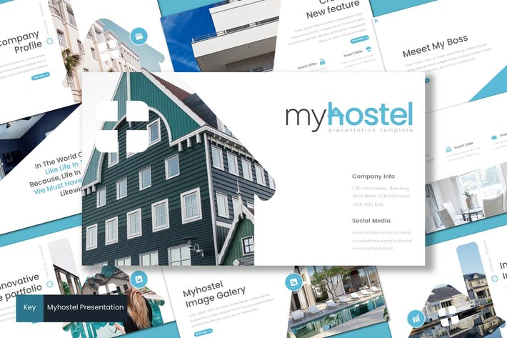 Thumbnail for Myhostel - Keynote Template
