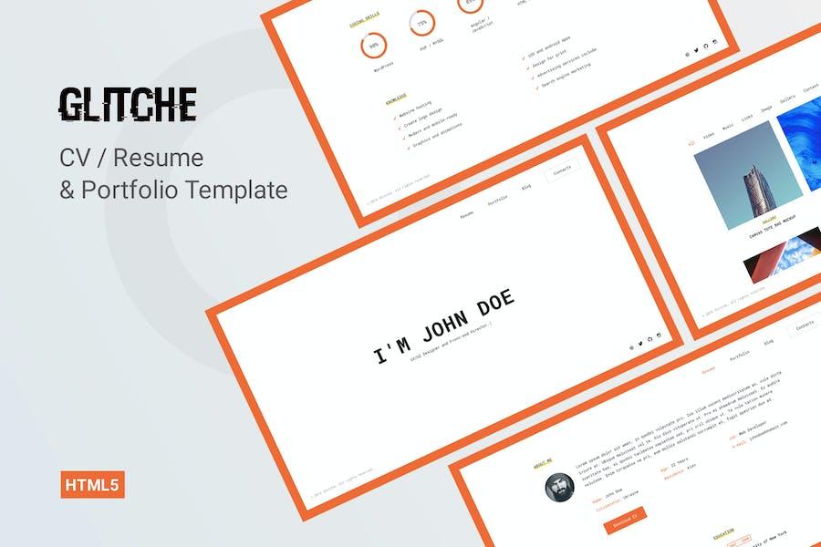 Glitche - CV Resume Template