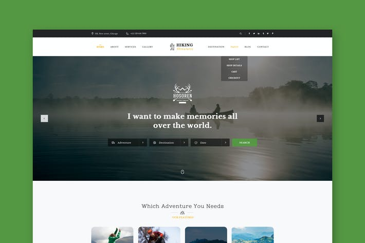 Thumbnail for Adventure Hiking & Outdoors PSD Template