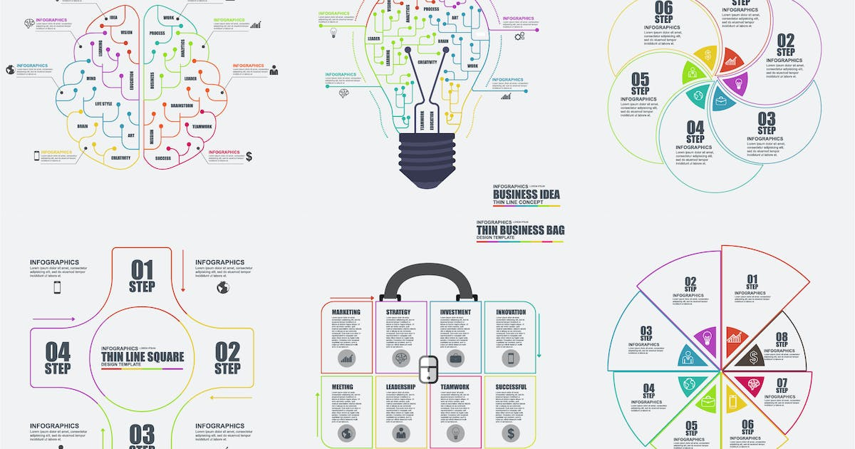 Download Thin Line Infographics by alexdndz