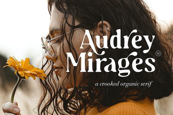 Thumbnail for Audrey Mirages - Estilista torcida Con serifa