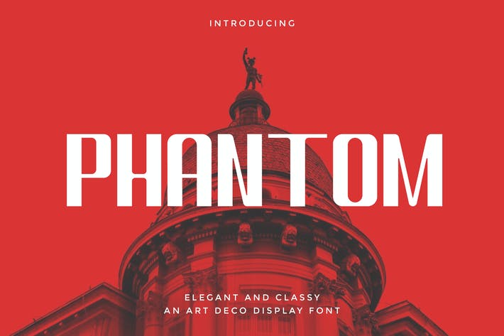 Phantom - Art Deco Display Tipo de letra