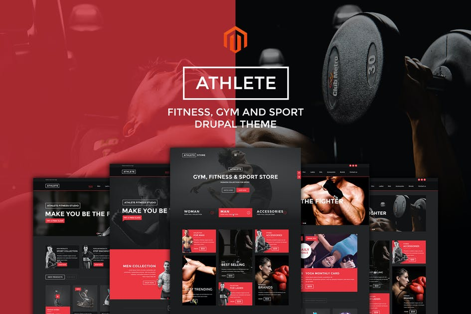 Download Athlete | Fitness - Multipurpose Magento theme by ArrowHiTech