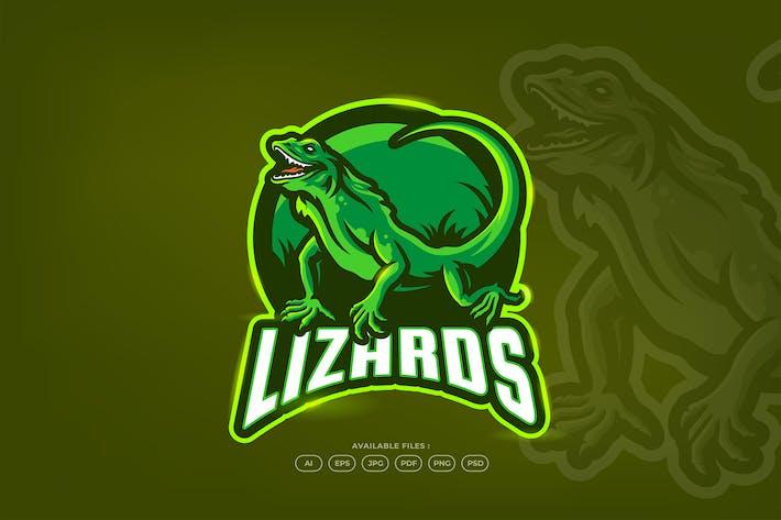 Lizard Jungle Fauna Animal Mascot Logo Template