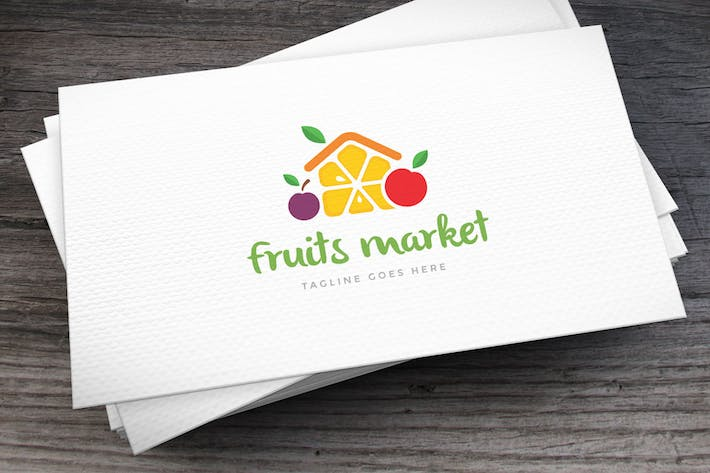 Thumbnail for Fruits Market Logo Template