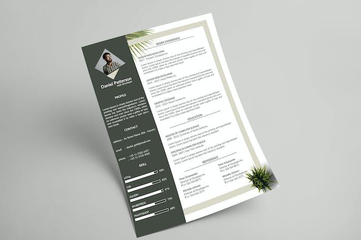 Thumbnail for Botanical Resume & Letterhead Template