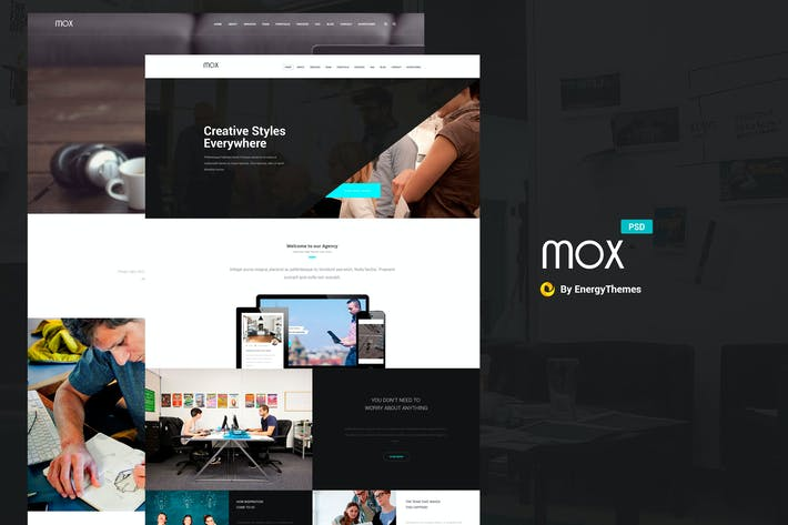 Thumbnail for Mox - Single & Multi Page PSD Template