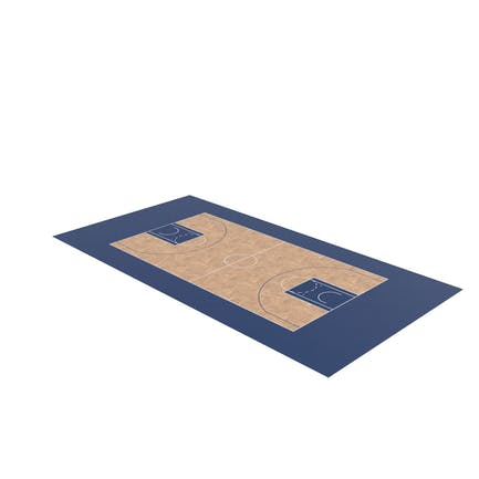 Basketball Court with Blue Accent