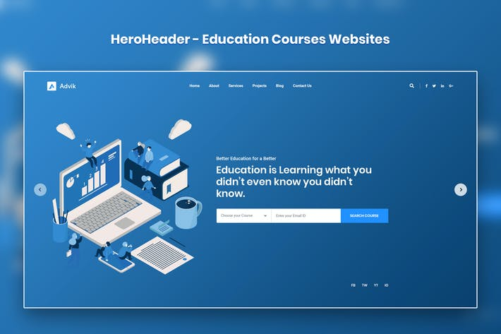 Cover Image For HeroHeader for Education Courses Websites-19