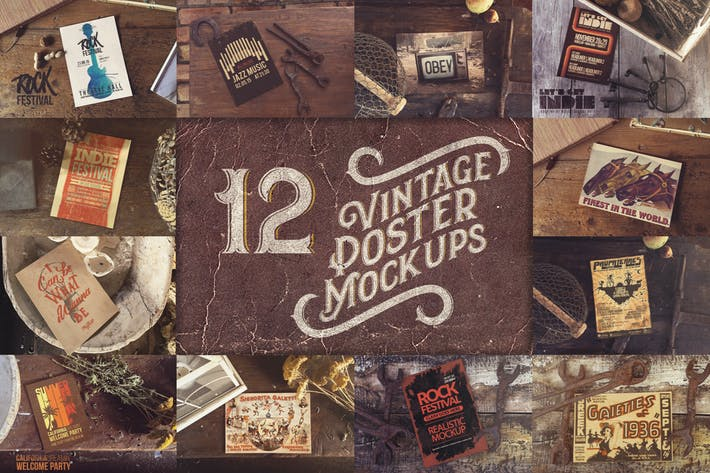 Thumbnail for Bundle Vintage Poster x12