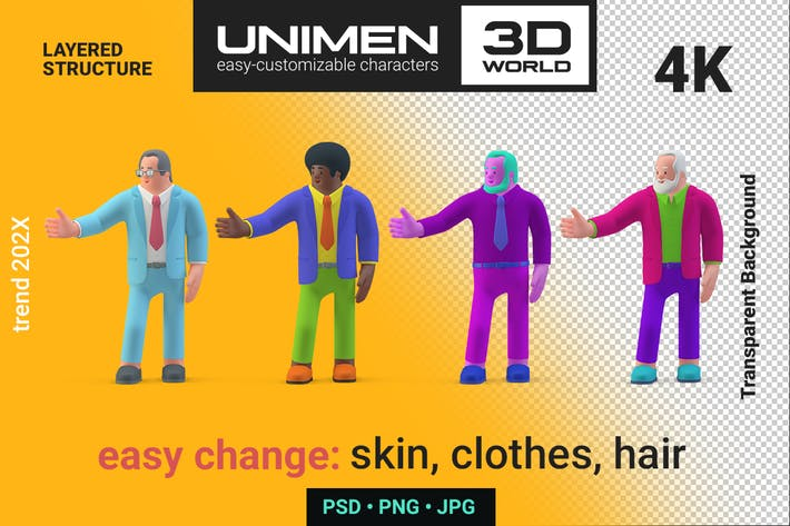 Thumbnail for Businessman Presenting Showing Hand 3D character