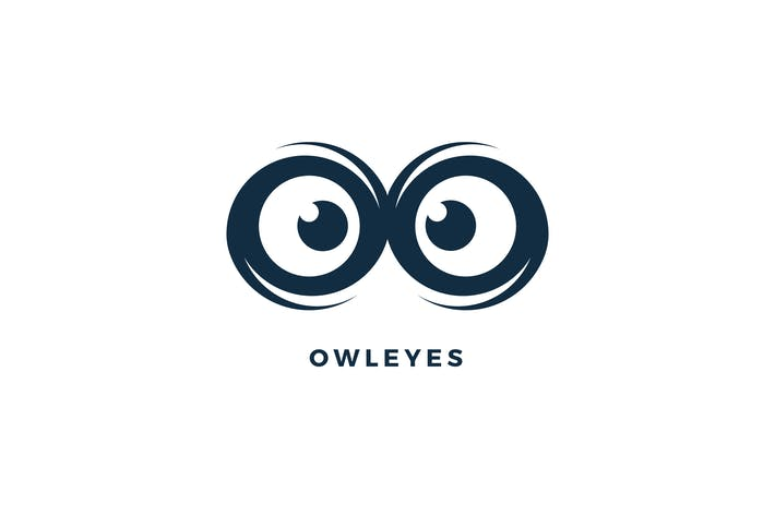 Cover Image For Owl Eyes Logo Template