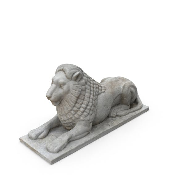 Small Limestone Lion