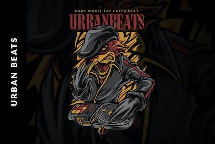 Urban Beats Illustration