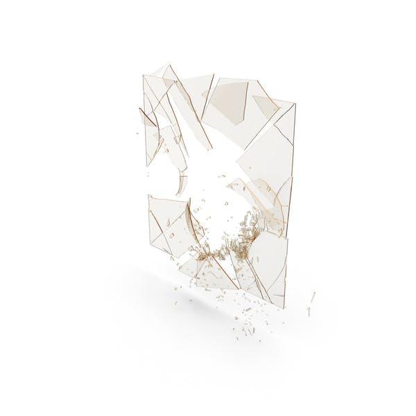 Сломанная стеклянная панель