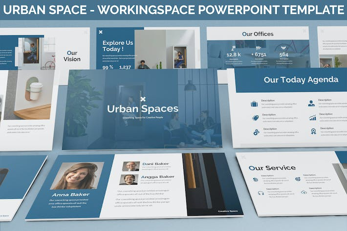 Thumbnail for Urban Space - Workingspace Powerpoint Template