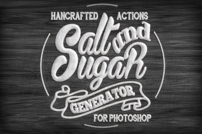 Thumbnail for Salt and Sugar Generator - Photoshop Actions